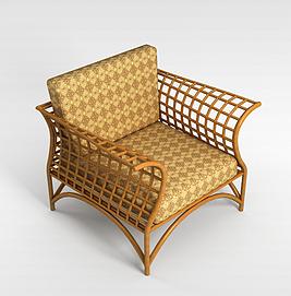 藤椅3d模型