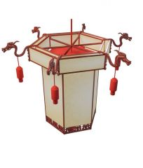 灯笼吊灯模型3d模型