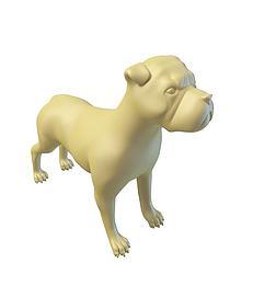 3d小<font class='myIsRed'>狗</font>雕塑模型