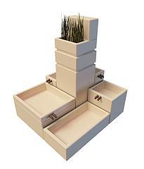 园林小品模型3d模型
