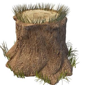 3d樹樁模型