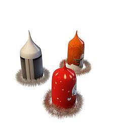 圣诞蜡烛3d模型