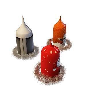 <font class='myIsRed'>圣诞</font>蜡烛3d模型