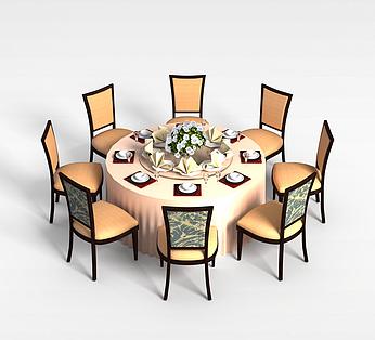 8人餐厅桌椅组合