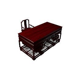太师椅桌3D模型3d模型