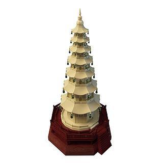 佛教塔3d模型