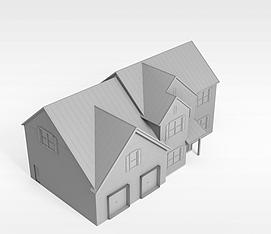 别墅楼3d模型