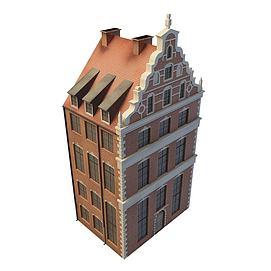 欧式楼房3d模型