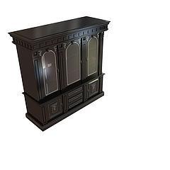 古典酒柜模型3d模型