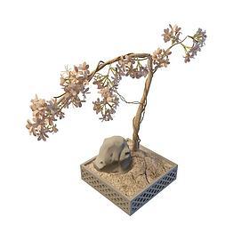 庭院盆景3d模型
