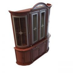 欧式古典酒柜模型3d模型