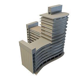 L型办公楼3d模型
