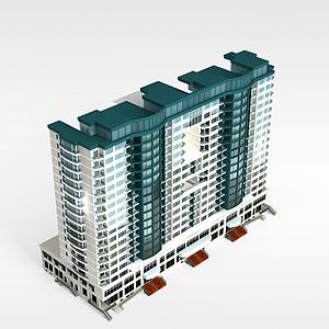 3d欧式楼模型