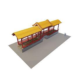 3d古建长廊模型
