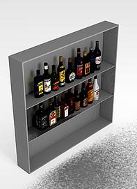 3d餐厅<font class='myIsRed'>酒柜</font>模型