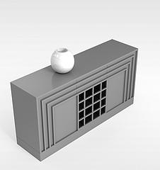 欧式简约陈设柜模型3d模型