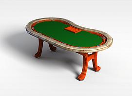 3d赌桌模型