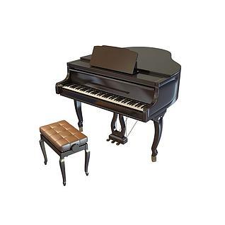 钢琴3d模型