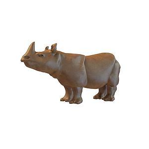 3dACC雕塑-<font class='myIsRed'>犀牛</font>模型