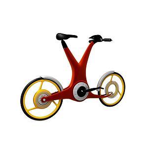 儿童自行车3d模型