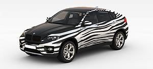 3d宝马X6模型