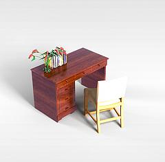 简约办公桌模型3d模型
