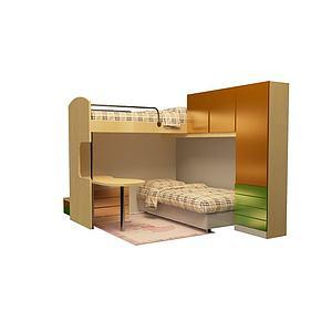 学生床模型3d模型