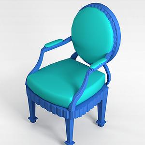 3d绿色<font class='myIsRed'>欧式椅</font>模型