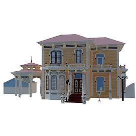 3d欧式建筑模型