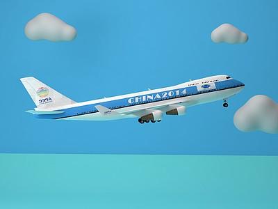 C4D飛機模型