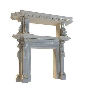 欧式柱子组合3d模型