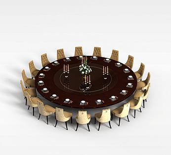 19人圆形餐桌椅