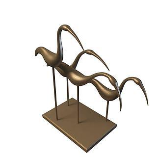仙鹤装饰品3d模型