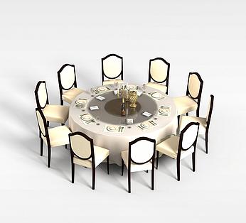 10人餐桌椅组合