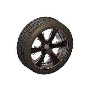 輪胎3d模型