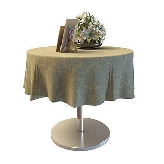 现代风格桌子3d模型