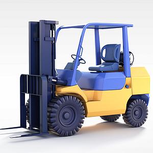 铲车模型3d模型