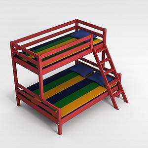 母子床模型3d模型
