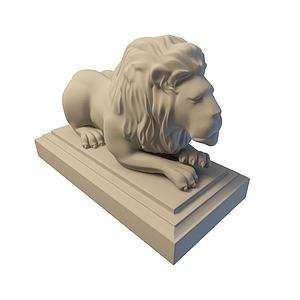 3d獅子模型