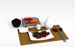 3d料理模型