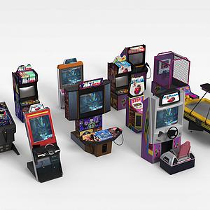 游戲廳游戲機組合模型