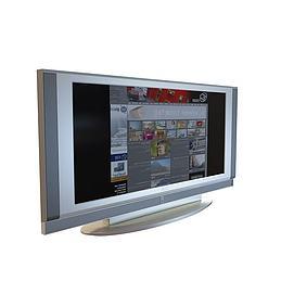 方形平板<font class='myIsRed'>电视机</font>3d模型