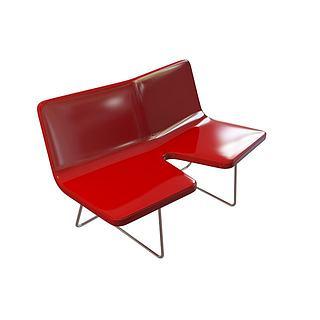 双人休闲椅3d模型