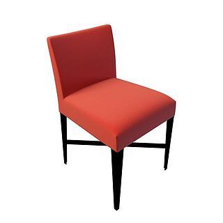 软座<font class='myIsRed'>餐椅</font>3d模型