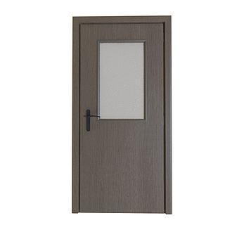 方形镂空木质门3d模型