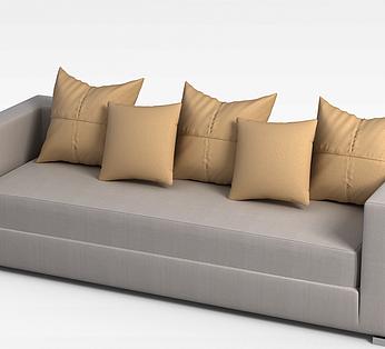 现代三人沙发