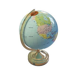 教学地球仪3d模型