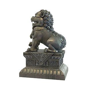 公园门口石狮子3d模型