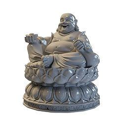 弥勒佛雕塑3D模型3d模型