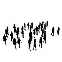 广场人群图片